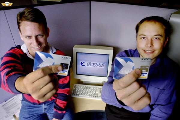 ایلان ماسک و کیمبال در شرکت x.com